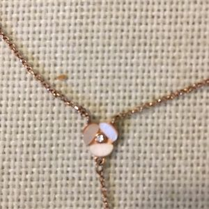 Kate Spade pansy Y necklace